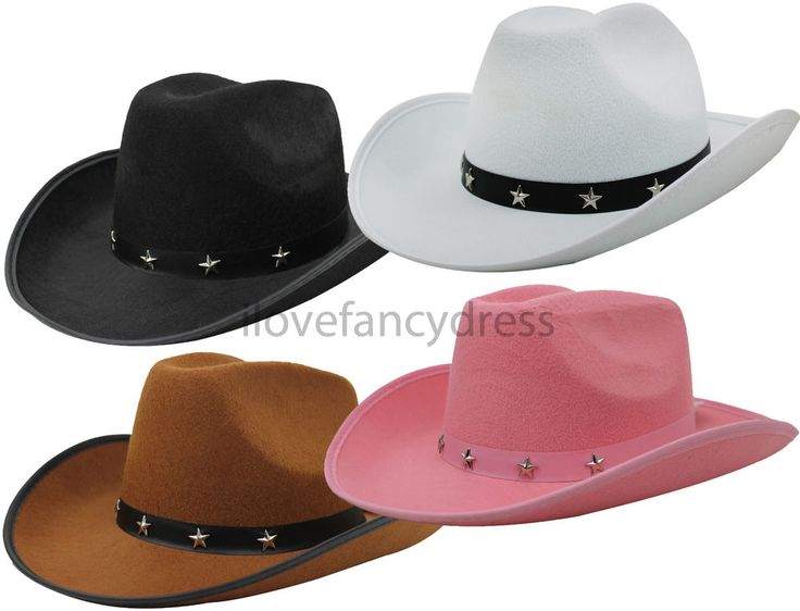 STUDDED COWBOY HAT WILD WEST TRAMPAS WESTERN COWGIRL FANCY DRESS ADULT STETSON in Clothes, Shoes & Accessories, Fancy Dress & Period Costume, Accessories | eBay!