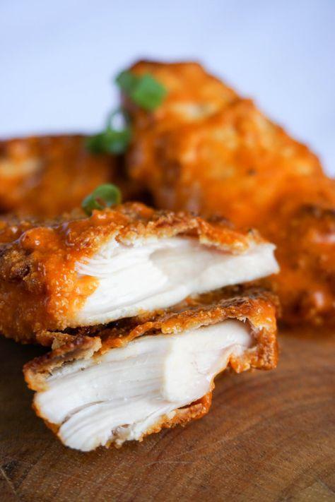 keto chicken tenders close
