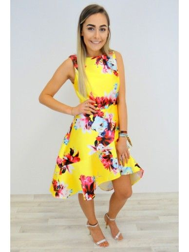 Floral Occasion Dress - Yellow