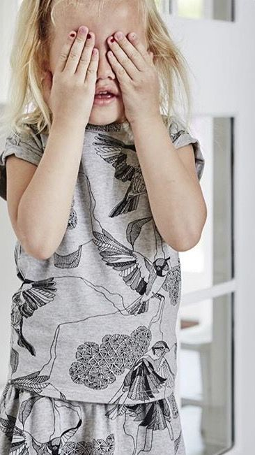 LOUDLY tee style Alisa and skirt style Selia - print by Line Holtegaard