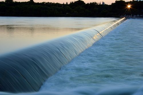 South Saskatchewan River, Weir, Saskatoon by Adammart, via Flickr