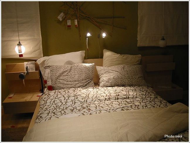 IKEAな北欧スタイルの寝室 寝室のインテリアコーディネート