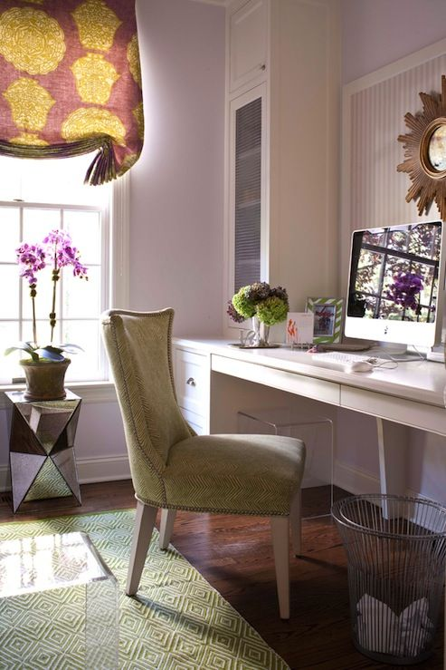 Lilac And Purple Fit In Nicely Into An Office