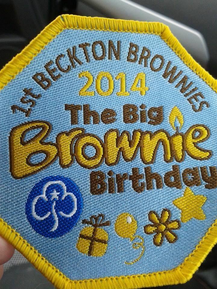 Kathy Thomas  Big brownie birthday  FB  £1.50 each plus postage