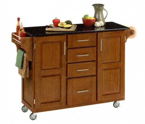 Extraordinary Wooden Kitchen Carts Marble Top