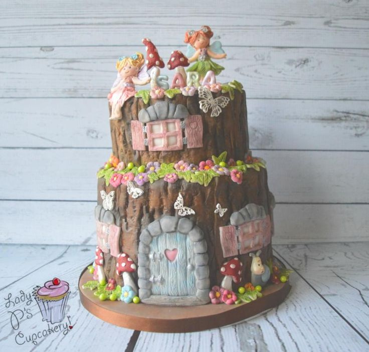 Fairy Tree Stump - Cake by Lady P's Cupcakery