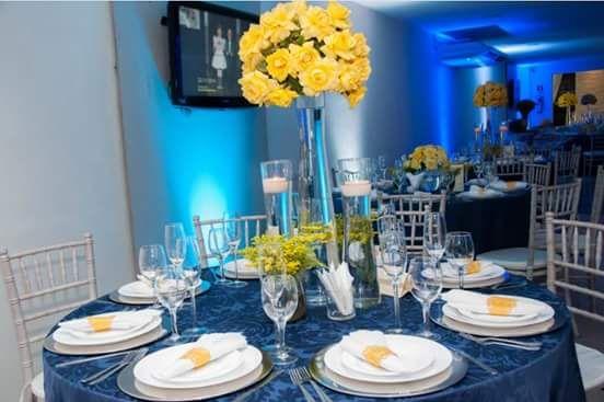 de casamento em azul e amarelo constance zahn casamentos constancezahn