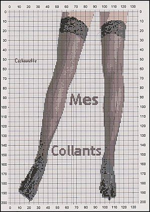 point de croix collants, bas - cross stitch stockings