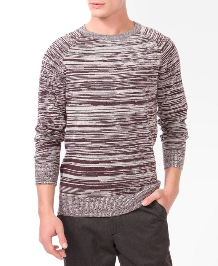 Duo-Tone Knit Sweater