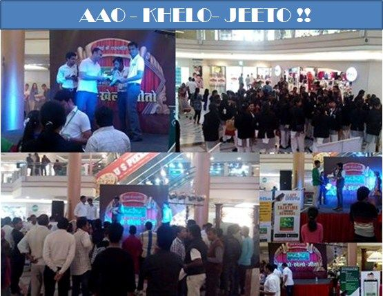 AAO - KHELO- JEETO !! Got a Great Response @ Celebration Mall Udaipur !!