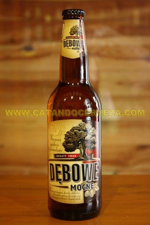Cerveza Polaca Debowe Mocne. La cerveza del Roble estilo Strong Lager
