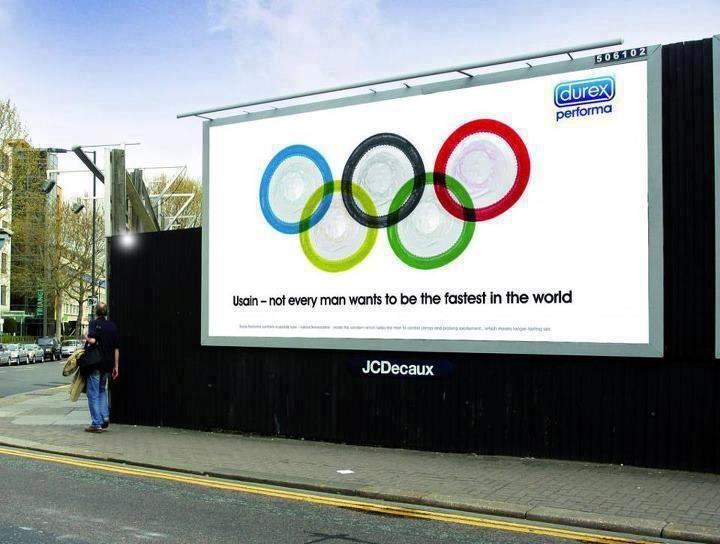 Porque no todo hombre quiere ser el más rápido del mundo. Genial campaña de Durex.