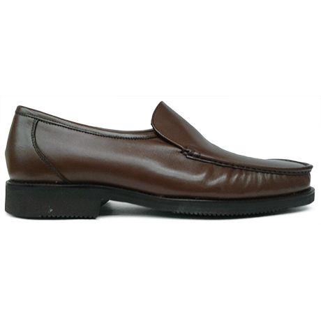 Zapato mocasín de pala lisa en color marrón de Bay vista superior