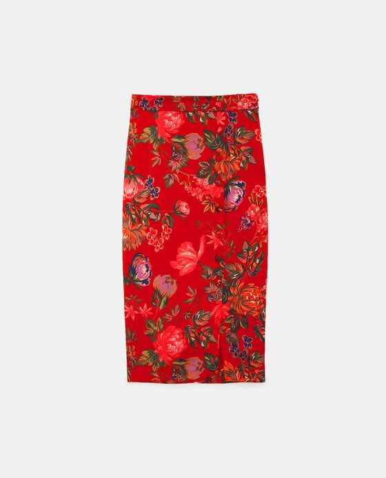 7e1260df4 Image 6 of FLORAL PRINT PENCIL SKIRT from Zara | Spring Wish List ...