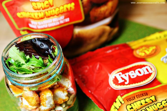 (recipe) tyson chicken salad jars