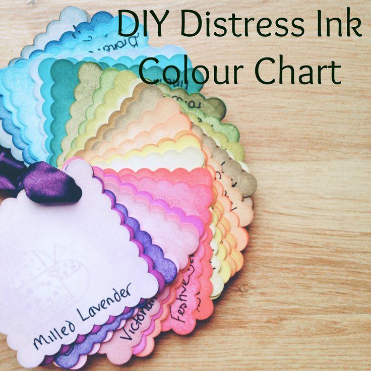 Tim Holtz Distress Ink Colour Swatch DIY by Butterfly Crafts Handmade Emporium