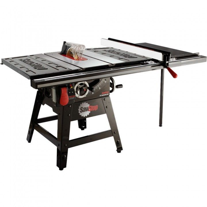 Sawstop Contractor Table Saw W 36 Fence Cns175 Tgp36 Table Saws 32377 Sawstop 1 75hp 10 Designed To Acc In 2020 Best Table Saw Contractor Table Saw Table Saw