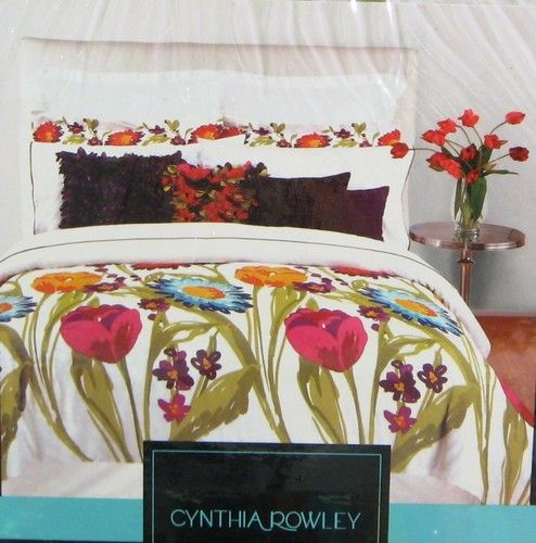 Details about cynthia rowley 3 pc duvet set full queen for Cynthia rowley bedding