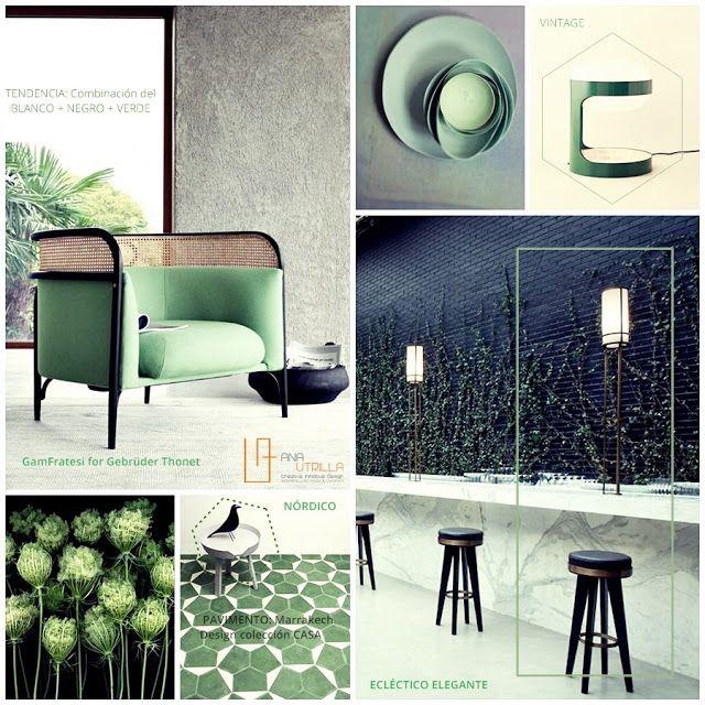Moodboard verde botella ana utrilla dise o de interiores for Consejos de diseno de interiores