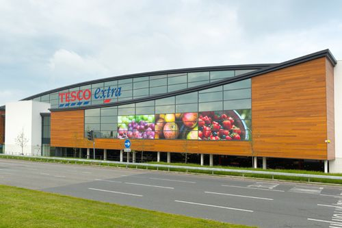 Western Red Cedar No.2 Clear grade - at Tesco Superstore in Widnes