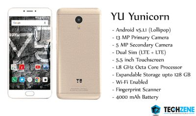 Yu Televentures has launched their new #Android Phone named #Yunicorn in India. Here are the full details.