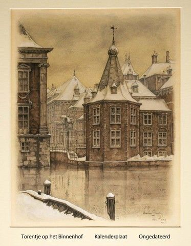 Torentje, den Haag Anton Pieck Dutch painter, graphic artist,watercolour, etchings, woodcarvings, engravings