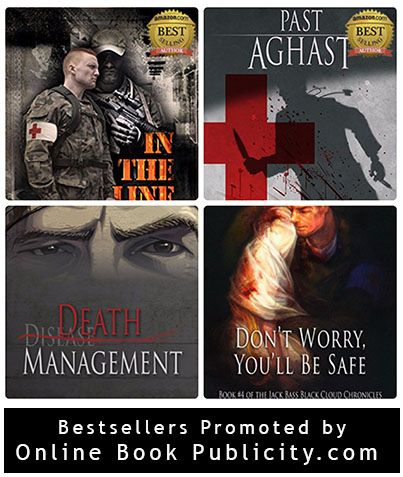 """Edwin Dasso's works of fiction leverage many of his """"stranger than fiction"""" experiences from years of practice at major medical centers and community hospitals.  Download his Amazon Best selling series the Jack Bass Black Cloud Chronicles: http://www.onlinebookpublicity.com/medical-mystery-series.html  Request free chat session with publicist: http://www.onlinebookpublicity.com/bookpromotion.html"""