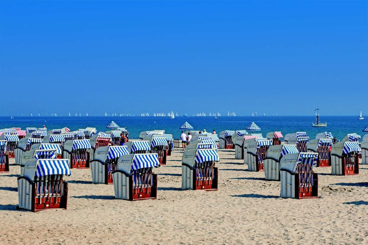 #baltic sea #beach #holiday #north sea #pattern #people #sailboats #sand #sand beach #sea #summer #sunny #tourist destination #umbrellas #vacation