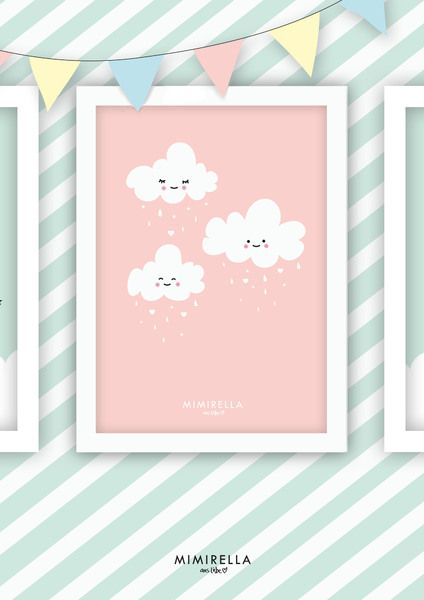 Bild kinderzimmer wolke m dchen von mimirella auf dawanda for Kinderzimmer shop