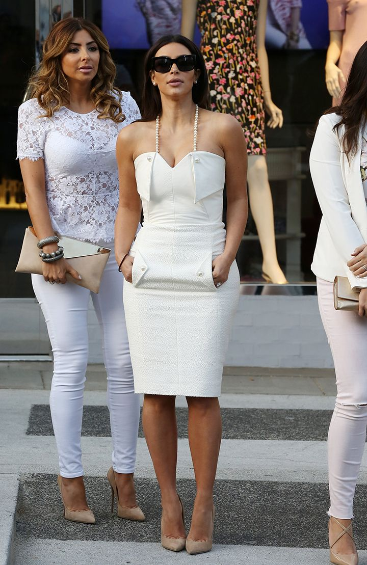 Kim Kardashian- I freaking love her outfit! like head to toe she hasn't looked this good in months!