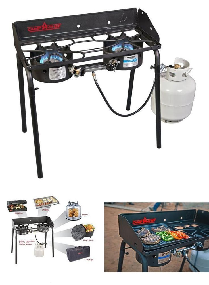 2 Burner Stove Propane Outdoor Camping Two Burner Range Backpacking Gas Cooker #CampChef