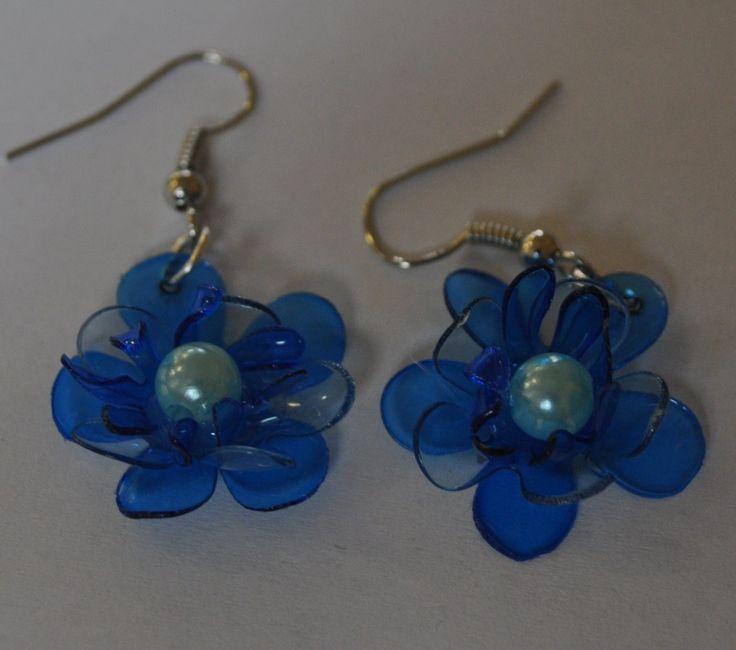 PET bottle earrings