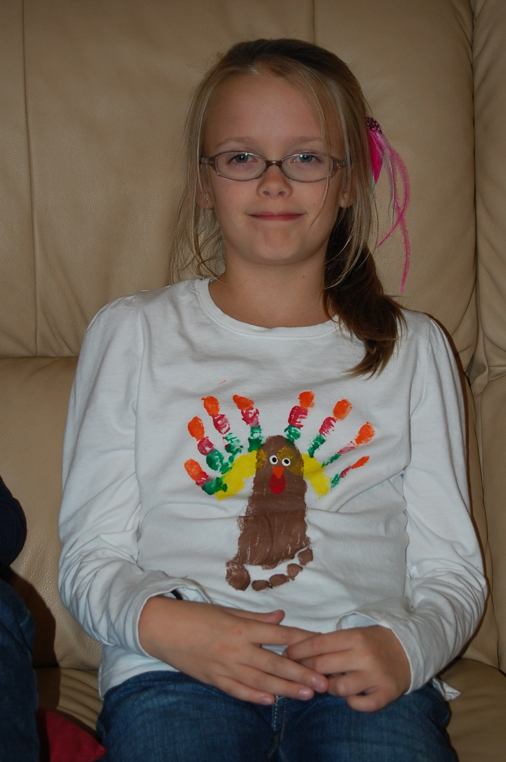 Turkey Shirt made with your child's hands and foot!
