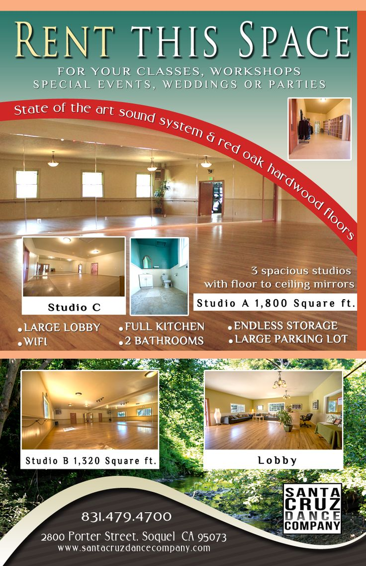 rental space flyer for dance studio flyers dance rental space flyer for dance studio flyers dance studio studios and real estates