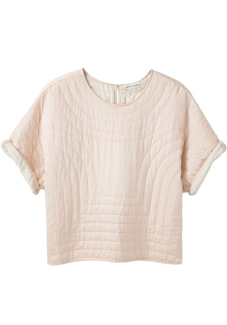 Isabel Marant Étoile Landers Quilted Silk Top.
