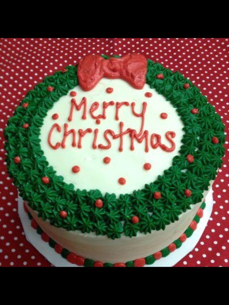 Christmas Wreath Cake | Cake Decorating Diva | Pinterest