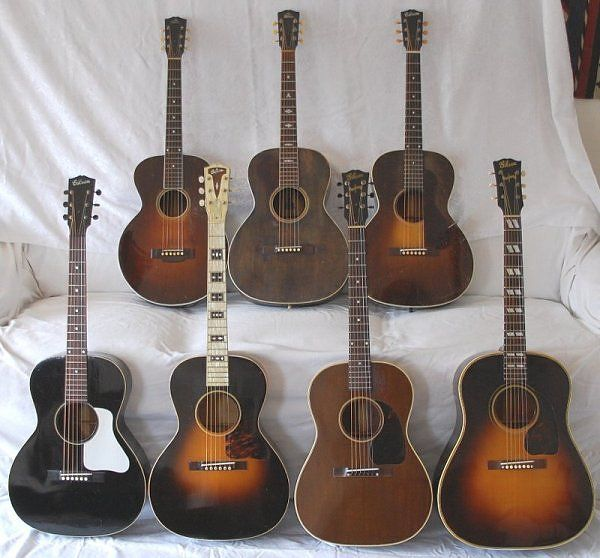 Vintage Gibson Acoustic Guitars. Someone who sets on a journey to find vintage Gibson acoustic guitars may well find themselves frustrated unless they have the time and money to travel the world. Vintage guitars from this company, from about 1910 to 1960 for example, may still be tucked away in a private closet or attic somewhere. But the explosion of interest in such instruments in the last couple of decades may have already been responsible for uncovering the real treasures.