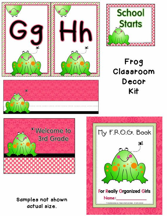 Classroom Decor Etsy : Frog classroom decor kit by crayonboxlearning on etsy