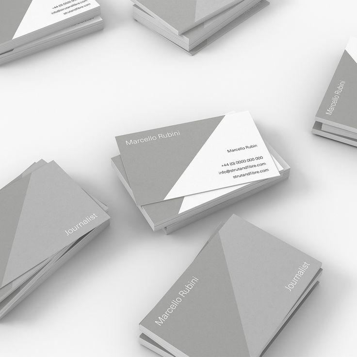 Rubini – one of our Minimal business card templates available to customise and order on our site.