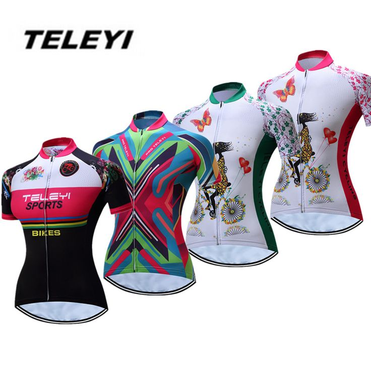 2017 teleyi verde mtb bike jersey de ciclo de las mujeres clothing chicas ropa ropa de ciclismo pro jersey montar bicicleta maillot transpirable superior en Camisetas de ciclismo de Deportes y Entretenimiento en AliExpress.com | Alibaba Group