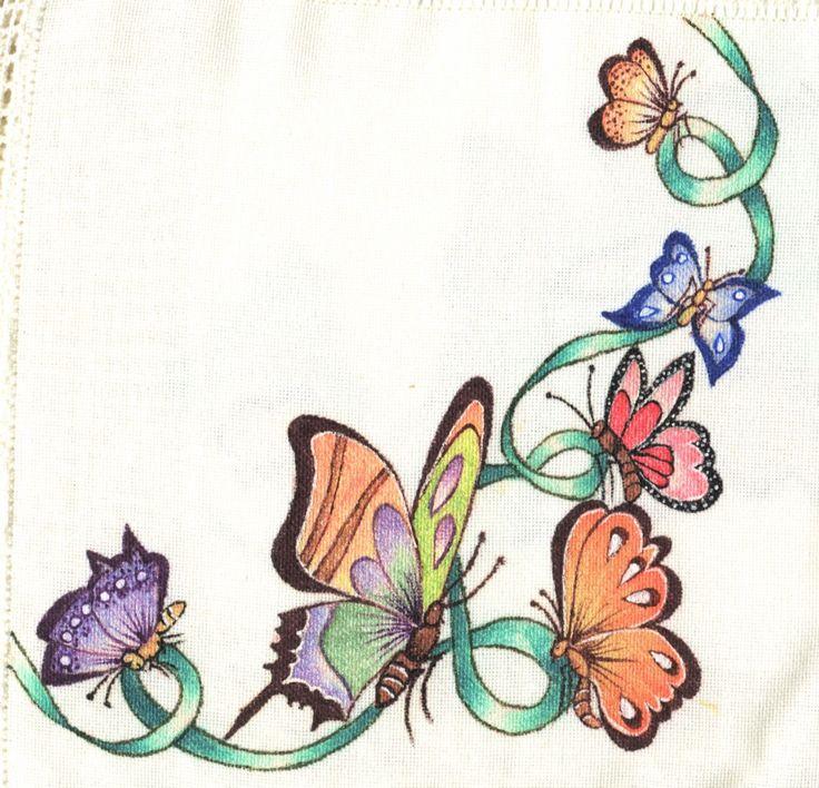Pintura en tela esquina para mantel pintura en tela - Cojines pintados en tela ...