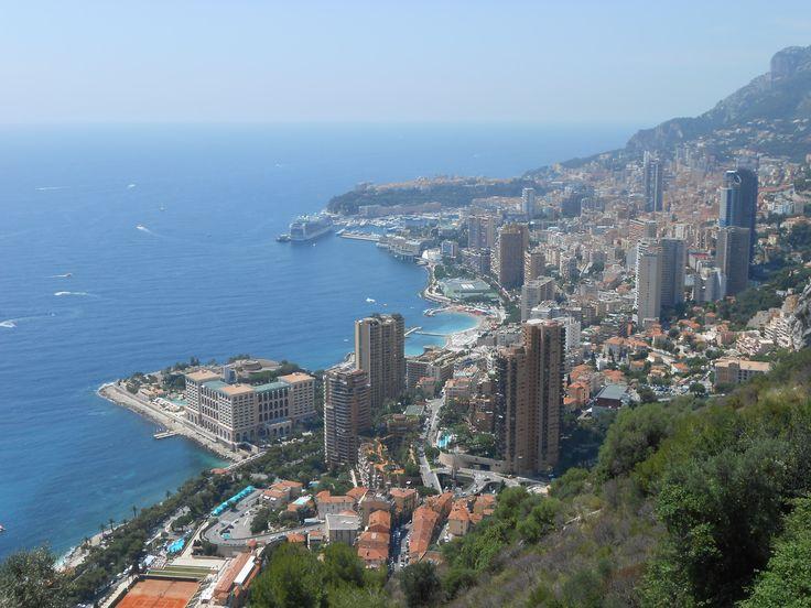 Panorama del Principato di Monaco da Roquebrune
