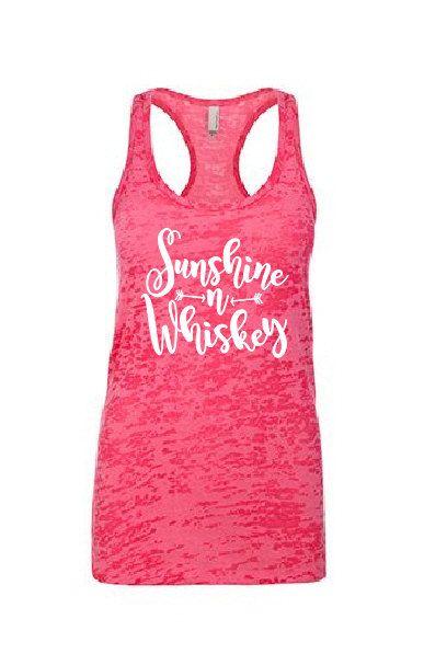"Sunshine & Whiskey"" Country shirt tank fitness tank,drinking tank top,whiskey girl,Southern Girl,Southern Pride,Whiskey Tank ,Country Tank"