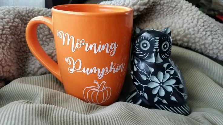 Pumpkin mug, Morning pumpkin mug,fall mug, pumpkin spice mug, pumpkin spice, fall decor, coffee mug, orange mug, pumpkin cup, fall cup by MjMaeDesigns on Etsy https://www.etsy.com/listing/462990098/pumpkin-mug-morning-pumpkin-mugfall-mug