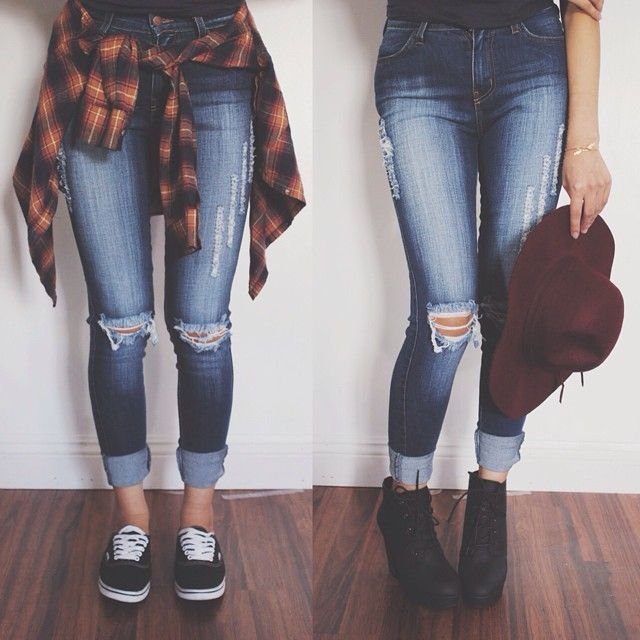 jeans + flannel
