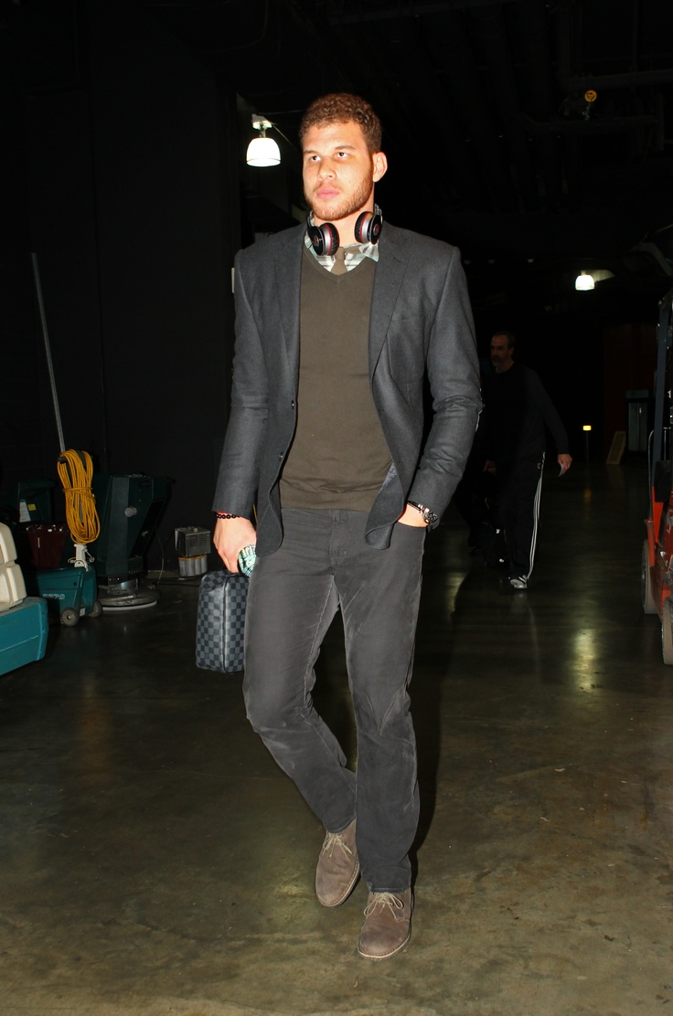 Blake Griffin, black sports coat, hipster, LA Clippers ...