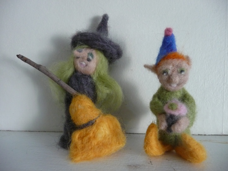 Needle felted witch and elf | Needle Felted Fun | Pinterest