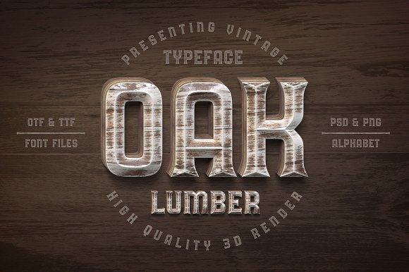 Oak Lumber Font by Gleb Guralnyk on @creativemarket