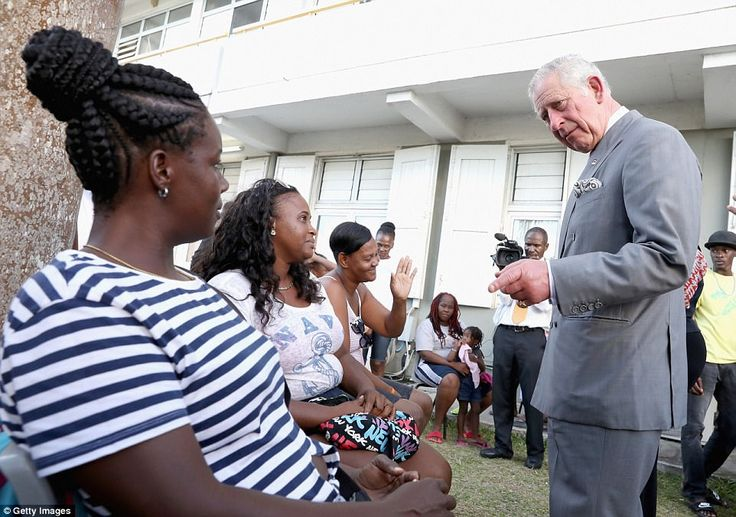 He also talked sympathetically with mothers whose homes were ruined by the Category 5 hurricane in September
