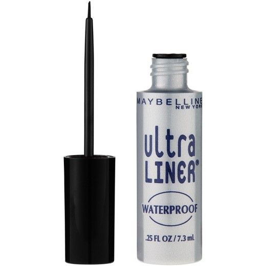 This liquid eyeliner features a precision brush to deliver glossy color and waterproof wear.Allergy tested. Suitable for sensitive eyes and contact lens wearers.<br><br>Start a line at the inner corner of the upper eyelid and draw along the lash line to the outer corner.Eyeliner is easily removed with Maybelline Expert Eyes 100% Oil-Free Eye Makeup Remover.<br><br>Warning: Eye cosmetics in a scratched, infected, or irritated eye and scratches from cosmetic eye applicat...